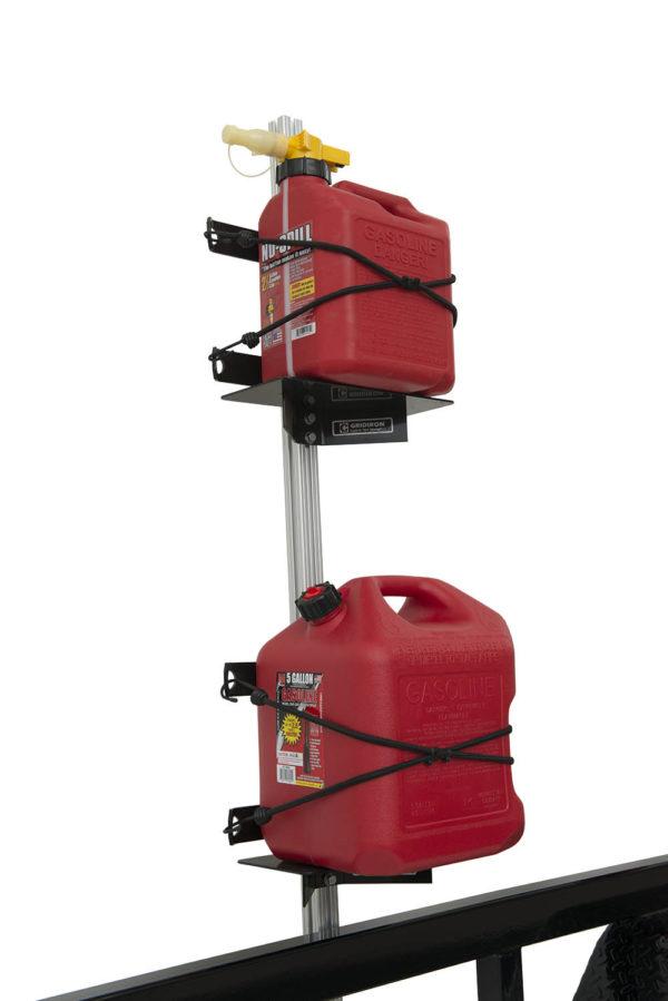 gas tank holder for trailer