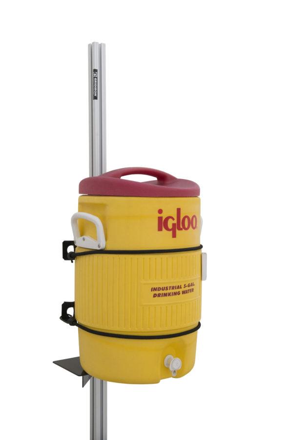 water cooler holder for open trailer